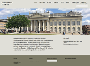 Die Webplattform documenta studien